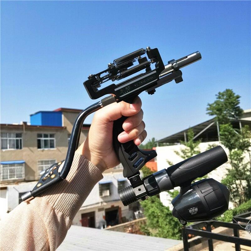 2019 เลเซอร์ Slingshot G5 อุปกรณ์ล่าสัตว์ตกปลา Slingshot ยิง Catapult Bow Arrow โบว์สลิงที่มีประสิทธิภาพ Shot Crossbow