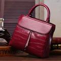 Brief Fashion Lady's Flap Stone Tote Bag Classic Genuine Leather Women's Messenger Bags Elegant Handbags