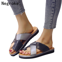 Summer Women Platform Slippers Non-slip Flat Flip Flops Female Romanesque Shoes Woman Beach Wedges Slides Correction Sandals hee grand solid platform slides 2018 slip on wedges beach summer casual shoes woman fashion creepers slippers 3 colors xwt1057
