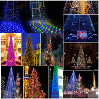 Fairy 3 3m 200 LED Net Garland String Light Christmas Holiday Party Garden Square Luminaria Decoration