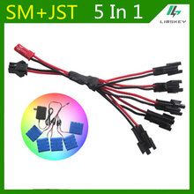 Lipo Battery Charging Cable SM plug 5 in 1 Charger