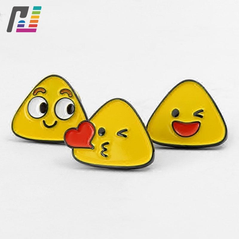 Funny Emoji Pin in Brooch Enamel Lapel Pin Badge Cartoon Smile Pins Brooches Custom Buy at Least 50PCS