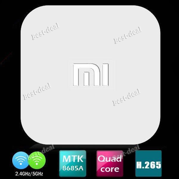 100% Original Xiaomi Mini TV BOX MTK MT8685 Quad core H 265