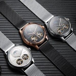 Image 4 - Bestdon montre automatique avec squelette, modèle à Tourbillon, pour hommes, suisse, marque de luxe, montre pour hommes