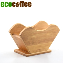 New Arrival Bamboo Coffee Filter Rack V60 Filter Stand  (without filters) Espresso coffee filter rack Iced coffee maker stand