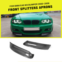 Carbon Fiber Car Front Lip Splitters Aprons Cupwings Flaps Winglets for BMW 3 Series E46 M3 Coupe 2000 2006 Car Styling