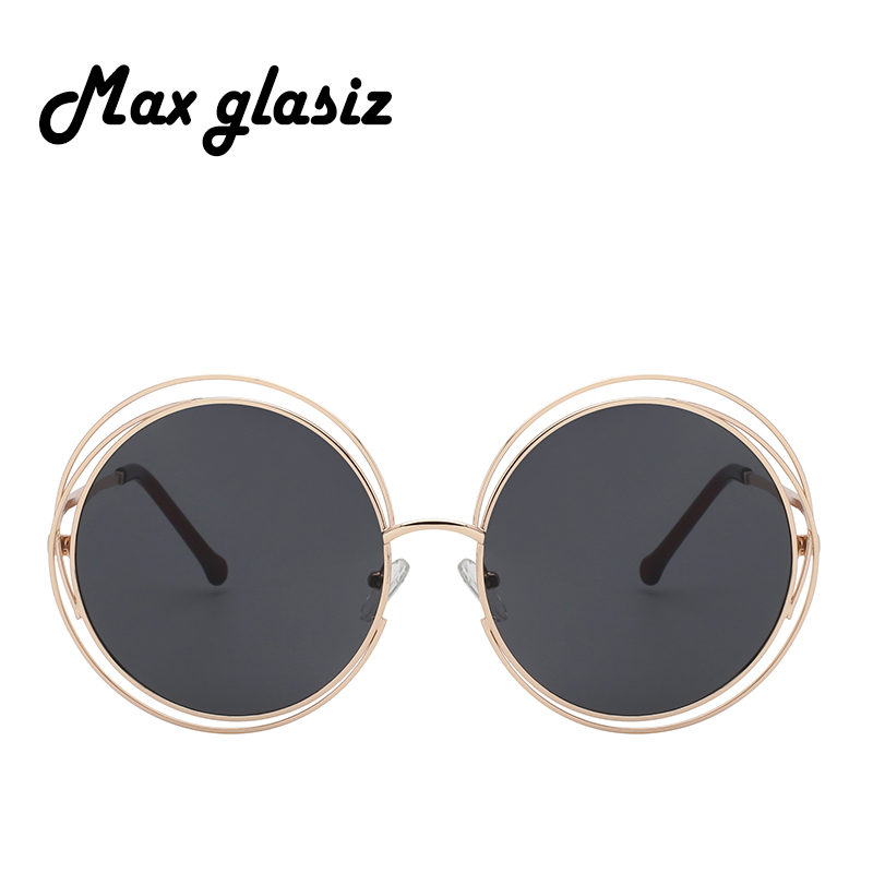 2018 NEW High quality Elegant Round Wire Frame Sunglasses Women ...