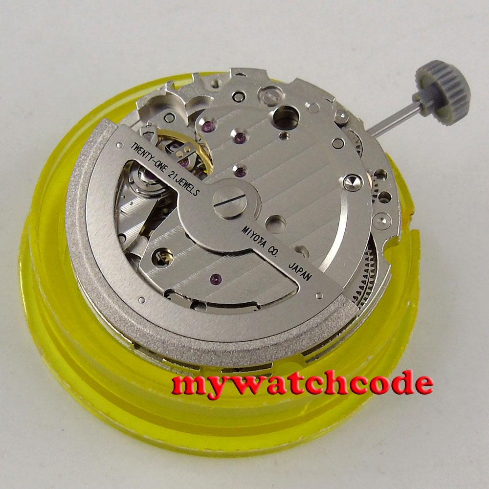 цены 21 jewels miyota 821A date window automatic mechanical movement M17