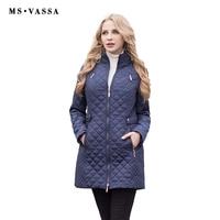 MS VASSA Phụ Nữ Parkas 2017 Mùa Đông Mùa Thu New casual Áo Khoác Nữ áo khoác Độn dài bông áo khoác ngoài cộng với kích thước 5XL 6XL