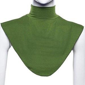 Image 4 - Klassische Bib Kopftuch Islamischen Muslimischen Hut Hijab Seide Schal 402 Stirnband Langen Hals Zurück Schal Abdeckung Schal