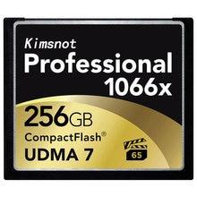 Kimsnão cartão de memória, profissional cf card 64gb 128gb 32gb 256gb cartão de memória compacto flash 1066x udma7 alta velocidade 160 mb/s
