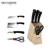Gohide 5pcs/Set Cooker Knife Sets No.T0924k Tools Combination Sets Paring Knife S Knife Kitchen Scissors Knife Seat