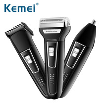 Kemei Professional 3 In 1 Twin Blade Electric Shaver Barber Travel Use Safe for Men Female Face Beard Shaving Machine