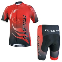 2016 Team Mens Bike Cycling Jersey Shorts MILOTO Ropa Ciclismo Short Sleeve Sports Suit Bicycle Clothing Set S-4XL