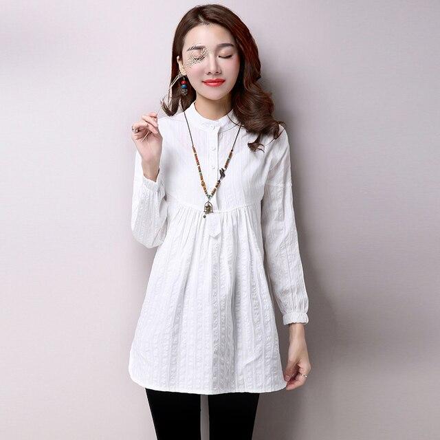 Stand Color Blouse Designs : Aliexpress buy vintage shirts women brand design