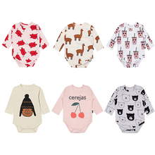 TinyPeople 2019 infant Spring Cotton body bebe clothes Cartoon Newborn dress cute Print baby Bodysuit Baby Boys Girls Jumpsuit