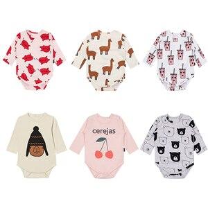 Tinypers/Коллекция 2019 года; Весенняя хлопковая одежда для новорожденных; платье для новорожденных с героями мультфильмов; боди для малышей с ми...
