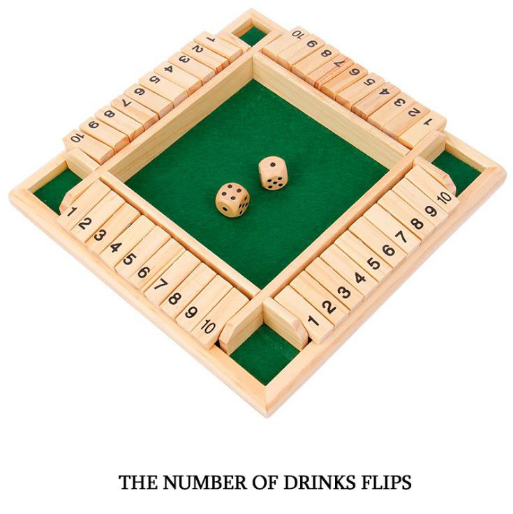 Party Interactive Puzzle Line Wine Toy Board Game Card Four Sided Digital Card Drinking Game Props