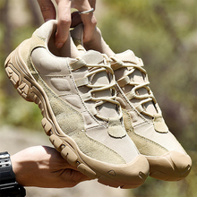 Man Hiking Shoes Outdoor Breathable Tactical Shoes Combat Army Boots Desert Training Sneakers Men Anti-Slip Travel Shoes Walking цены онлайн