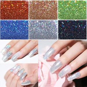 Image 2 - 10/5g Nail Glitter Powder  Laser Nail Art Shimmer Powder Purple Silver Shining Nail Powder Decoration