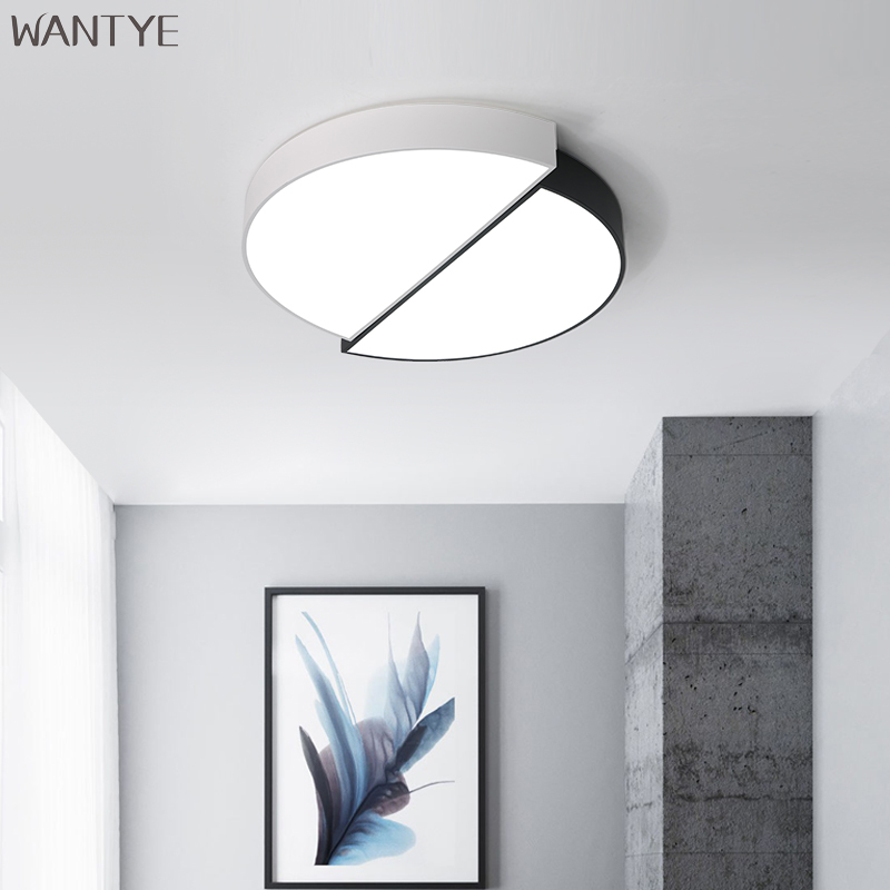 Modern LED Round Ceiling Lamp for Kids Bedroom Living room Surface Mounted Acrylic Ceiling Light Indoor Lighting Fixtures km ultra thin surface mounted modern led ceiling light for living room kids bedroom kitchen home decoration lamp fixtures