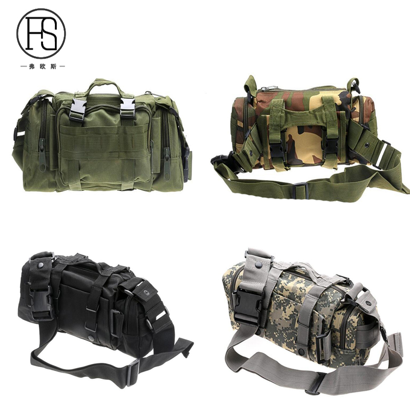 Outdoor Military Tactical Backpack Waterproof Waist Bag Multi-functional Hiking Camping Sport Belt Bag outlife new style professional military tactical multifunction shovel outdoor camping survival folding spade tool equipment
