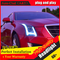 Auto Clud Car Styling For Cadillac ATS Headlights For Cadillac ATS Head Lamp Led DRL Front
