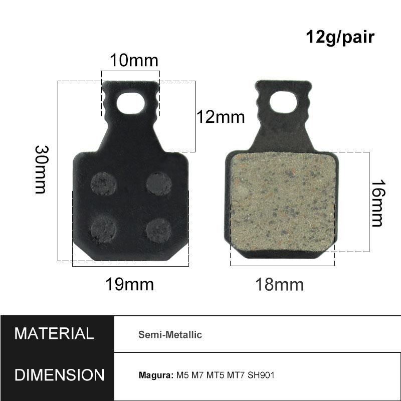 For Magura Mt5 Mt7 Brake Pads Bicycle Disc Mountain Semi-Metal Tools Kit 4-Pairs