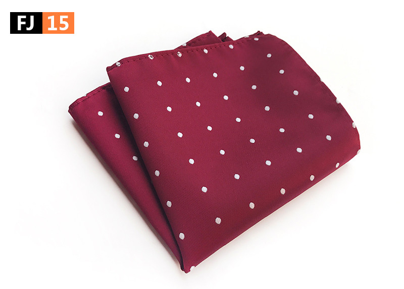 25x25cm Big Size Men Pocket Square Fashion Red Dots Spots Handkerchief