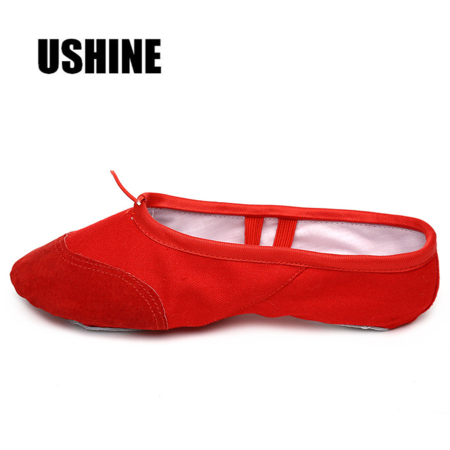 EU22-45 Red Yoga Slippers Practice Indoor Exercising Shoes Ballet Shoes Dance For Girls Ballet Shoes Dance Kids Children Woman