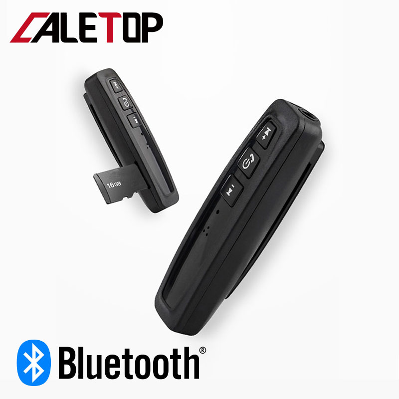 CALETOP Bluetooth Receiver Adapter With Microphone Handsfree Wireless Adapter Support TF Card Hifi Stereo Audio Music 3.5mm Jack