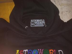 Image 5 - Толстовки с капюшоном с вышитым буквенным принтом Travis Scotts ASTROWORLD, толстовка с капюшоном больших размеров США S XXL
