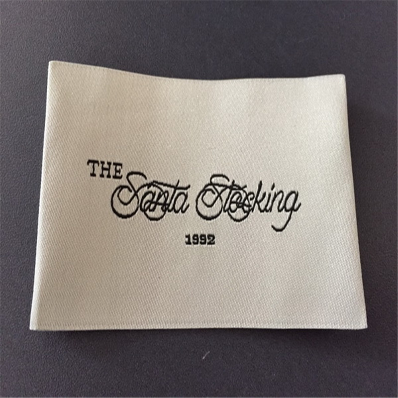 Customized clothing tags washable garment labels custom woven for brand name