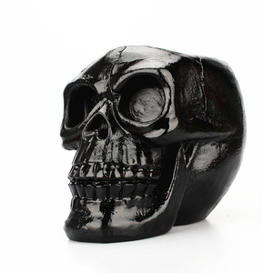 Череп голова фигурка Скелет орнамент канцелярские принадлежности черная подставка для ручек и карандашей инструмент для макияжа хранение ...