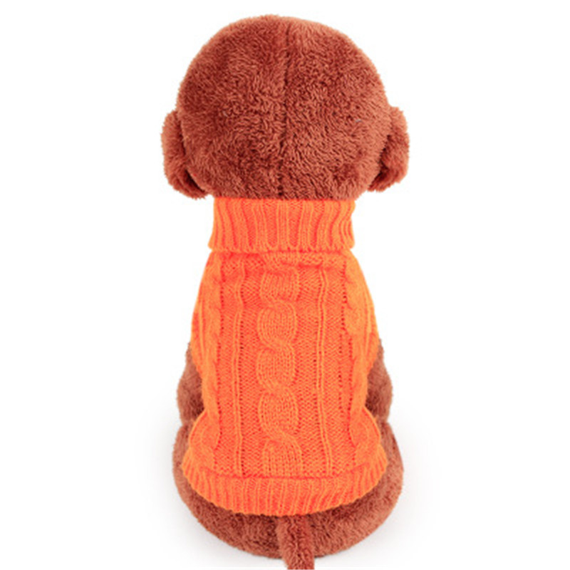 Hot Sale 4 Colors Solid Knitted Dog Sweater Coat Warm Winter Puppy Clothes Chihuahua Small Dog Jumper Apperal