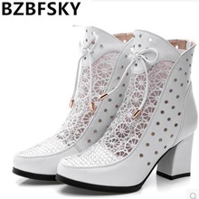 High Quality Women Boots Genuine Leather Ankle Boot
