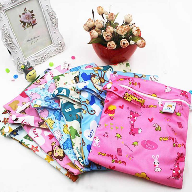 Tahan Air Dapat Digunakan Kembali Basah Tas Dicetak Saku Popok Tas Pul Perjalanan Wet Dry Bags Mini Ukuran 25X20 Cm Popok tas