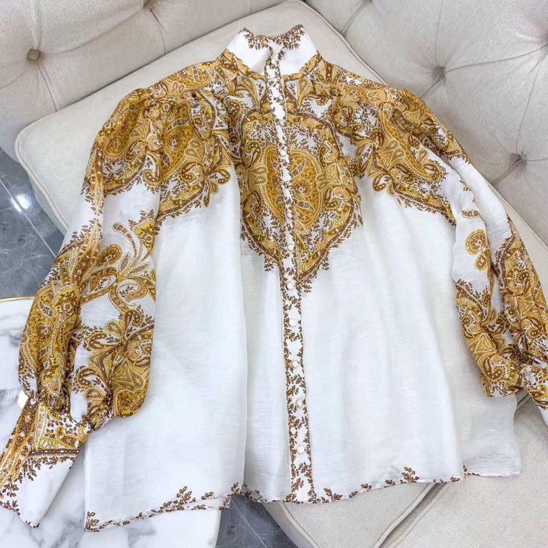 Imprimé Floral blouse à manches longues lâche Style élégant femmes blouse 2019 nouveau femmes élégant blouse