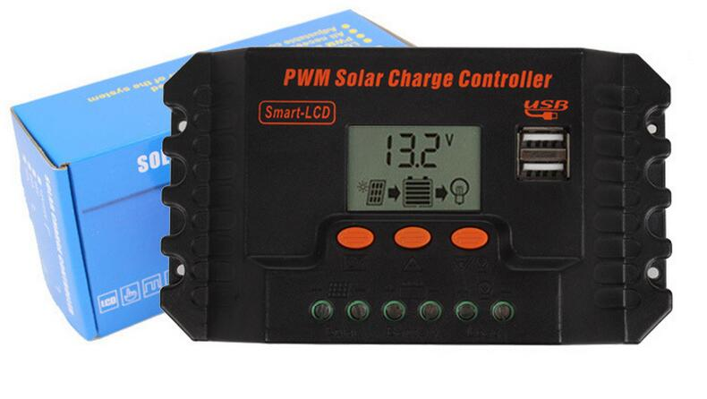 1pcs LCD Solar Panel Adapter Regulator Intelligent 10A 12V/24V with Double USB port controller for street lamp Solar charge lp116wh2 m116nwr1 ltn116at02 n116bge lb1 b116xw03 v 0 n116bge l41 n116bge lb1 ltn116at04 claa116wa03a b116xw01slim lcd
