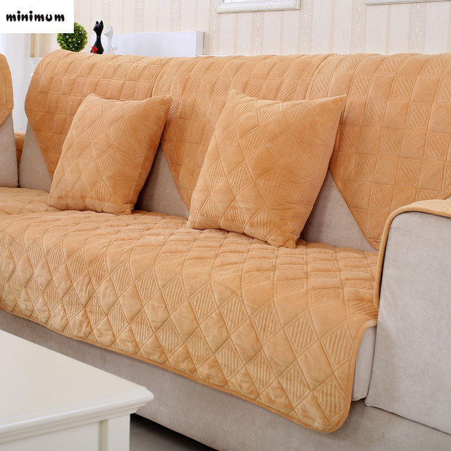 Aliexpress Com Buy Sofa Cushions Cloth Solid Color Plush
