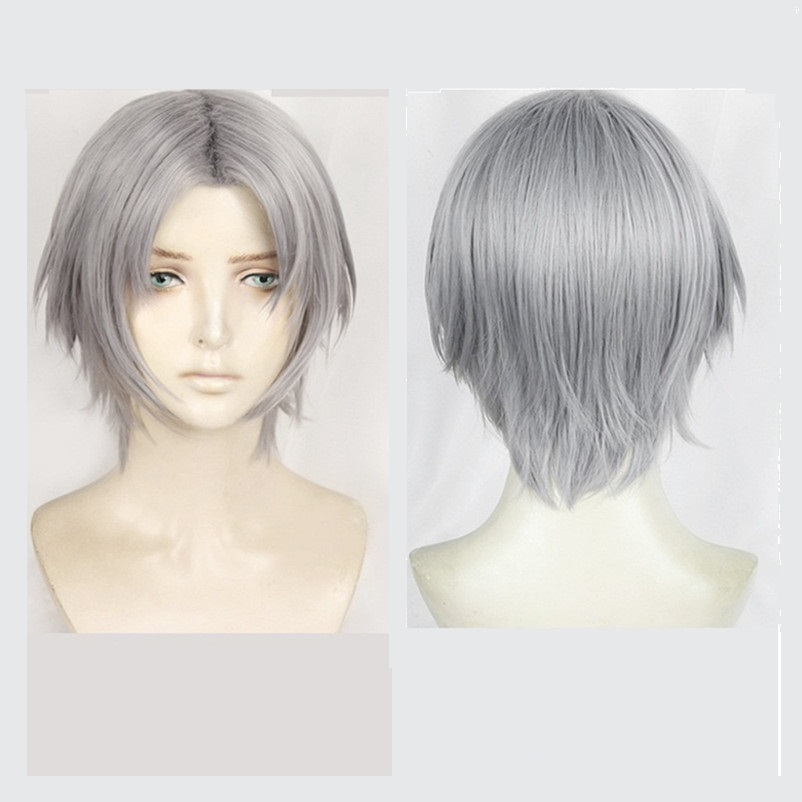 Active New Hot Game Devil May Cry 5 Game Dante Cosplay Wig Silver Hair Costumes Halloween Cosplay Costume Props