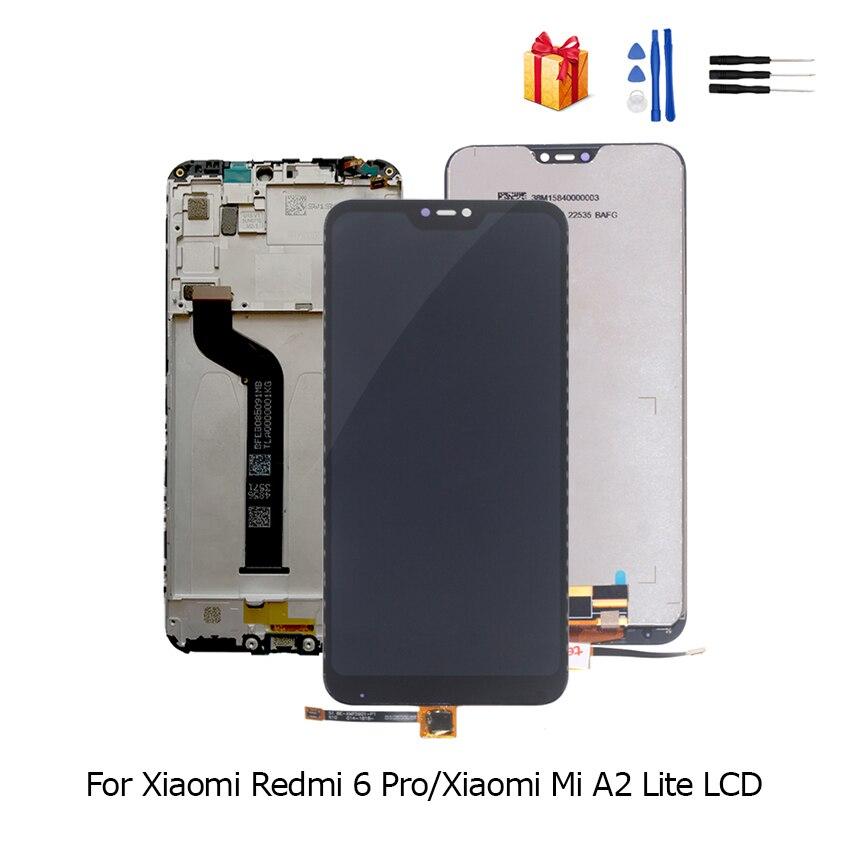 LCD Original Para Xiao mi Vermelho 6 Pro Display Touch Montagem Digitador Da Tela Para Xiao mi mi mi A2 Lite substituição LCD Com Quadro