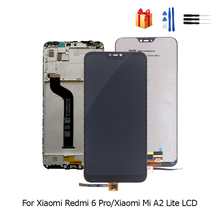 Original LCD For Xiaomi Redmi 6 Pro Display Touch Screen Digitizer Assembly For Xiaomi Mi A2 Lite LCD Replacement With Frame