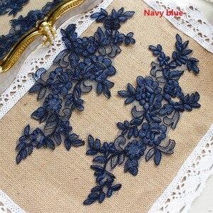 Image 2 - Colors Ganza Emboridered Corded Wedding Large Lace Applique for Bridal Dress Lace Trim Applique