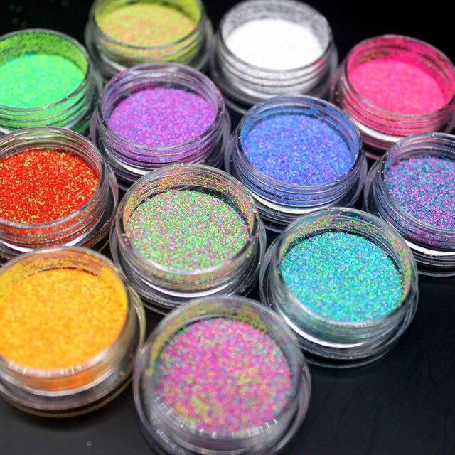 צבעים מעורבים אקריליק אבקת אבק UV ג 'ל עיצוב 3D טיפים קישוט מניקור נייל אמנות