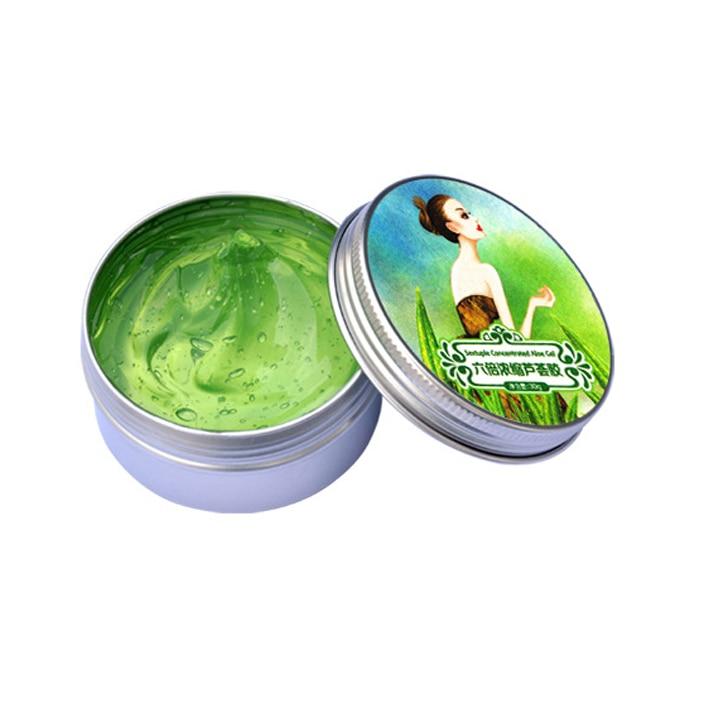 Pure Natural Aloe Vera Smooth Gel Acne Treatment Face Cream Moisturizing Anti Kill Bacteria Soothe The Skin