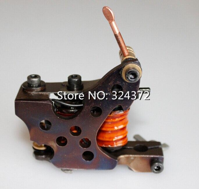 ФОТО Free ship by china past good machine professional brass wire 8 wraps liner manual handmade Cast iron frame Tattoo Machine Gun