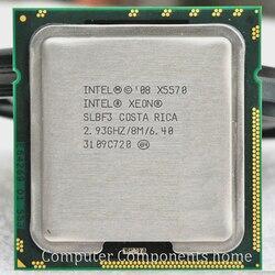 Intel Xeon X5570 Processor Intel X5570 CPU (2.93G Hz 8MB 6.4GT/S Quad-Core) LGA 1366 Server CPU Bekerja Pada X58 Papan Utama