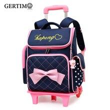Children School Bags for Girls Trolley Backpack Wheeled Kids Orthopedic Schoolbag Student Bags Mochila Infantil Bolsas Mochilas цена