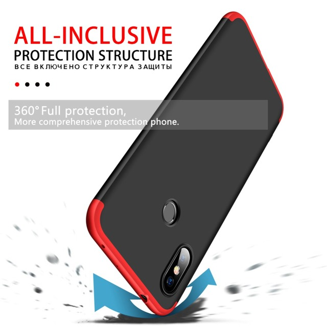 360 Degrees Full Protection Phone Case For Redmi Note 5 - 6 1
